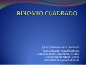 Binomio cuadrado power point