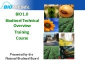 BIO1.0 Biodiesel Technical Overview