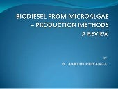 Biodiesel from microalgae   product...