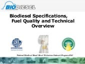 Biodiesel fuel quality