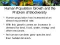 Biodiversity and Human Population Growth