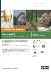 BSI Bioenergy Conference & Workshop...