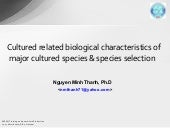 Biological Characteristics Of Cultu...
