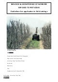 Biological Monitoring of Workers Exposed to Pesticides - Guidelines for application in field settings