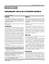 Biometria hematica interpretacion