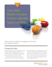 Biotech case study corporate fitness