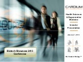 Cardium Therapeutics Biotech Showcase January 2013 Investor Presentation