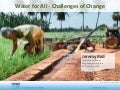 Water for All - Challenges of Change