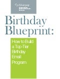 Birthday email blueprint silverpop
