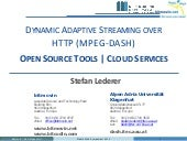 MPEG-DASH open source tools and clo...