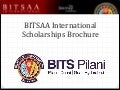 BITSAA Scholarships' Brochure 2013