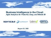 Business Intelligence in the Cloud I