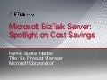 Cutting Cost with BizTalk Server