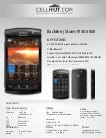 Blackberry storm 9530 unlocked 3 g smartphone