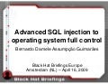 Advanced SQL injection to operating system full control (slides)