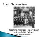 Black nationalism - TAH Grant Summe...