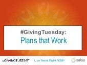 #GivingTuesday: Plans that Work