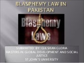 Blasphemy law in pakistan