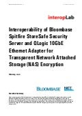 Bloombase Spitfire StoreSafe QLogic 10GbE Ethernet Adapter Interoperability