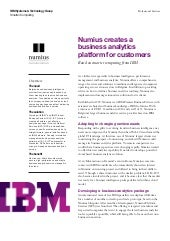 Numius creates a business analytics...