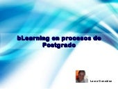 B learning en postgrado
