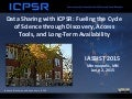 Data Sharing with ICPSR: Fueling the Cycle of Science through Discovery, Access Tools, and Long-Term Availability
