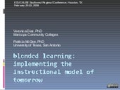 Blended Learning: Educause SW Regio...