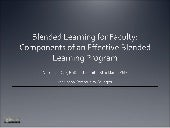 Blended Learning For Faculty