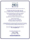 Bleu catering menu
