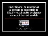 Tutorial Podcasting Blip Tv
