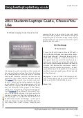 Blog.bestlaptopbattery.co.uk-2011 Students Laptops Guide , Choose You Like