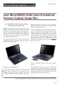blog.bestlaptopbattery.co.uk-Acer Ethos 5951G 15.6in Core i5 notebook Preview | Laptop Usage Tips