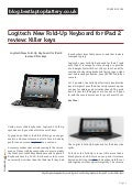 Blog.bestlaptopbattery.co.uk - Logitech New Fold-Up Keyboard for iPad 2 review: Killer keys