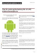 Blog.bestlaptopbattery.co.uk-Tips for prolong the battery life of a 4G Android smartphone
