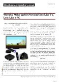 Blog.bestlaptopbattery.co.uk-Ways to Make Watch Movies More Like TV, Less Like a PC