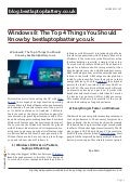 Blog.bestlaptopbattery.co.uk-Windows 8: The Top 4 Things You Should Know by bestlaptopbattery.co.uk