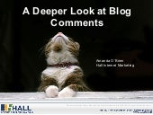 A Deeper Look at Blog Comments