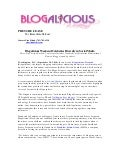 Blogalicious Weekend Press Release