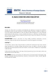 Blog como recurso_educativo