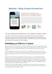 Blog Content Essentials - Are you s...