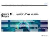 Blogging 101 - Research-Plan-Engage...
