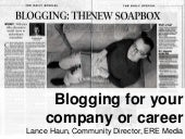 Blogging 101 For Your Company or Ca...