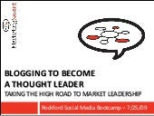 Blogging For Thought Leadership