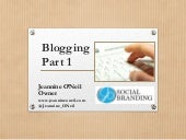 Blogging Part 1
