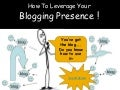 How To Leverage Your Blogging presence