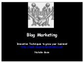 Blog marketing new