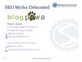 BlogPaws 2010 West - SEO Myths Debu...