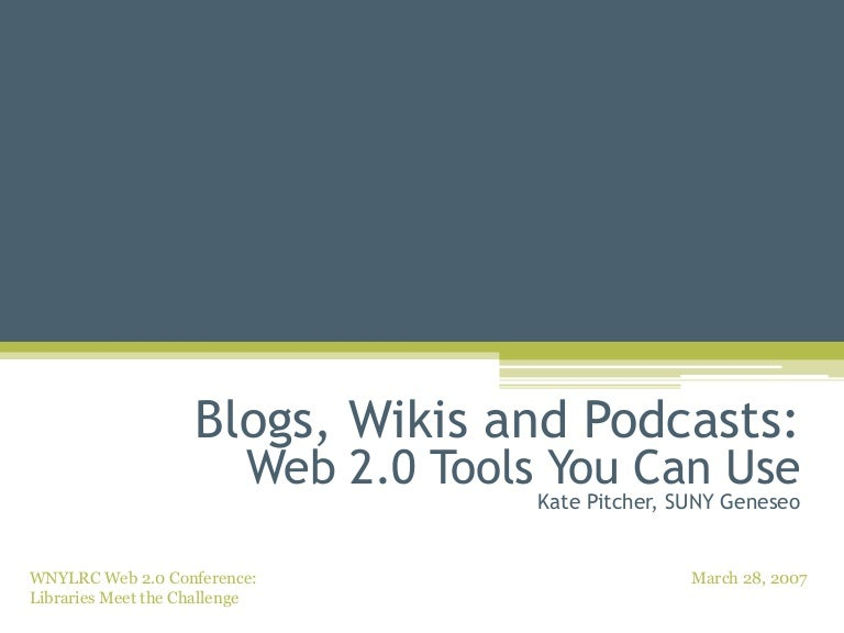 Blogs wikis and podcasts web 20 tools you can use 16258 thumbnail 4