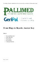 Pallimed/GeriPal Blogs to Boards - Hospice/Palliative Medicine Board Review 2012 (Q&A + Discussion)