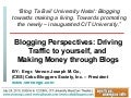 Blogtabai talk: Blogging Perspectives